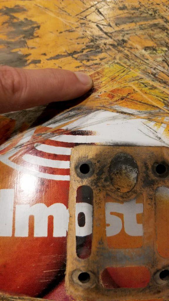 Almost impact light skateboard deck long pressure crack