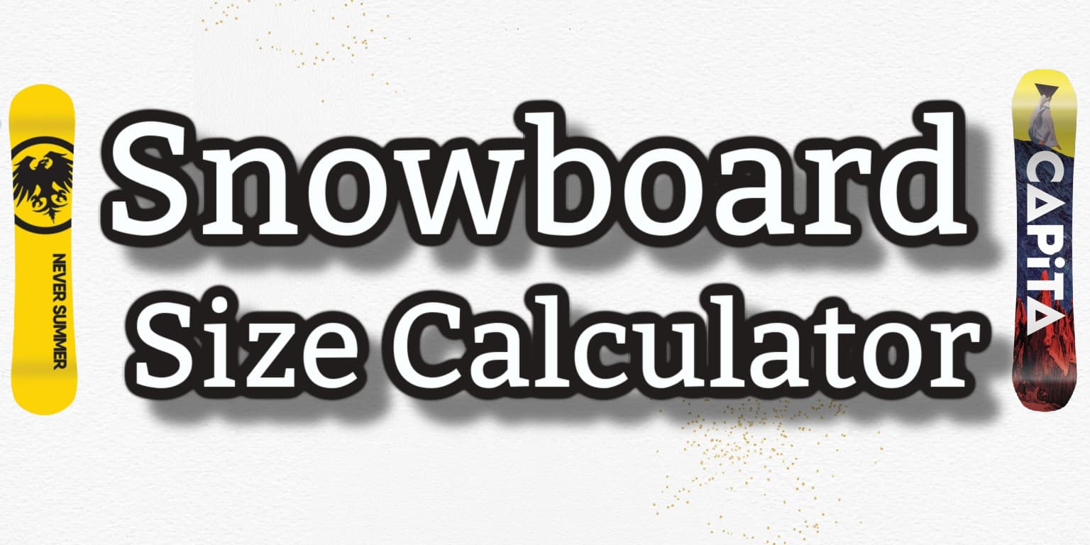 Snowboard Size Calculator Header Image