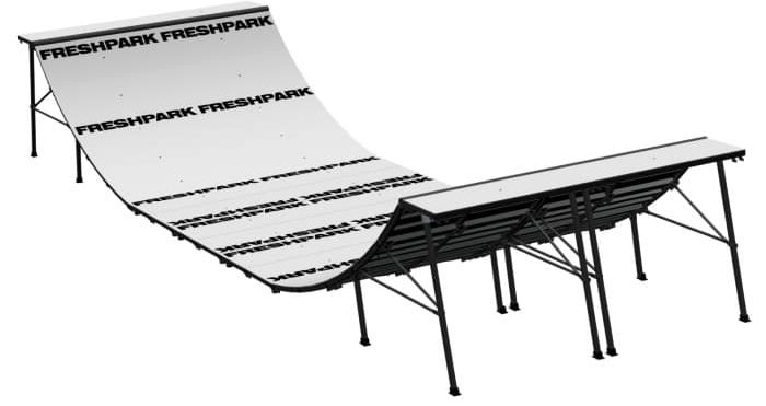 Freshpark 4 Foot Foldable Mini Halfpipe