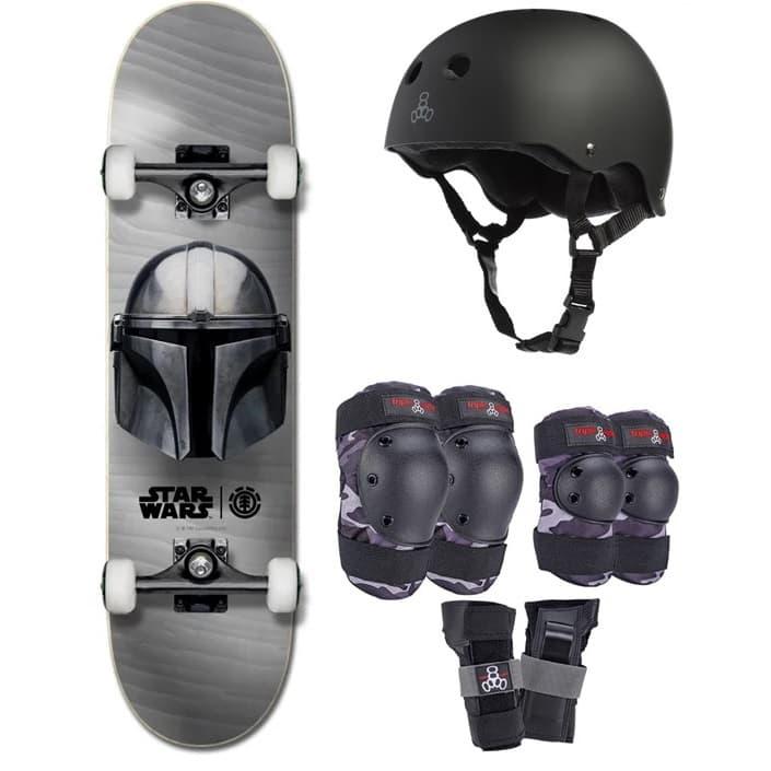 Element Beskar 7.75 Skateboard With Full Jr Pad Set